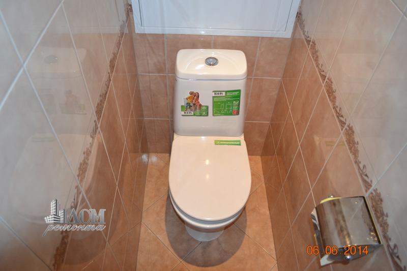 Ремонт туалета под ключ в панельном