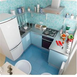 вариант дизайна интерьера маленьной кухни